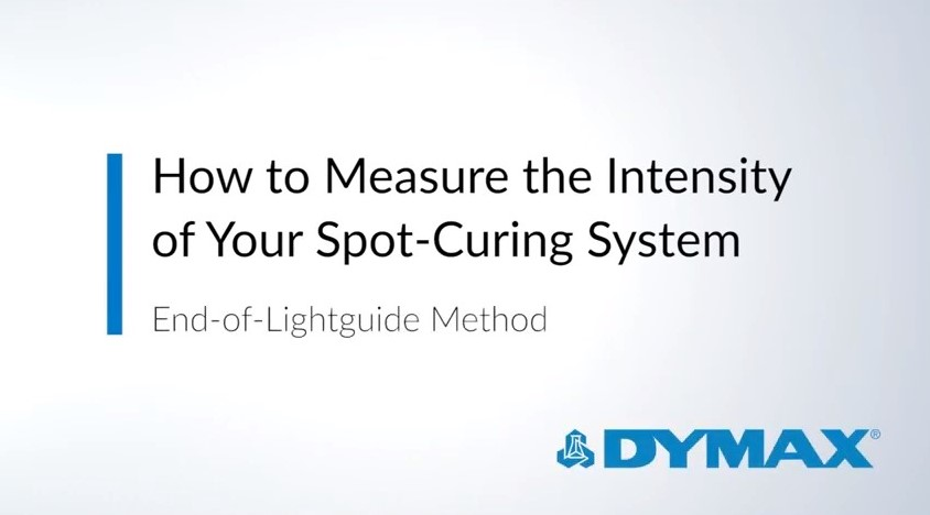 How to Measure the Intensity of Your Spot Curing System