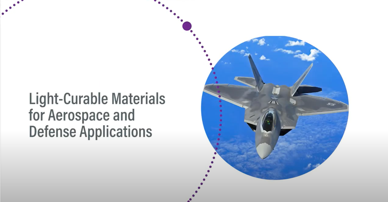 Light-Curable Materials for Aerospace and Defense Applications