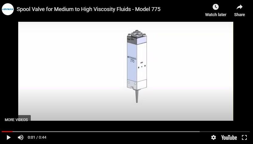 Model 775 Spool Valve for Medium to High Viscosity Fluids