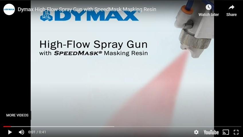 Dymax High-Flow Handheld Sprayer with SpeedMask Masking Resin