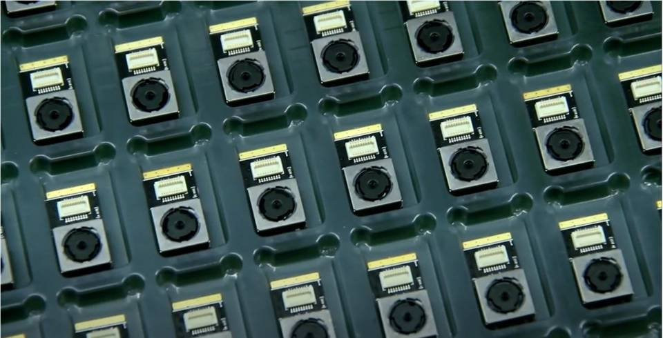 Assembly line of camera modules using Dymax Asia 9906-AA adhesive