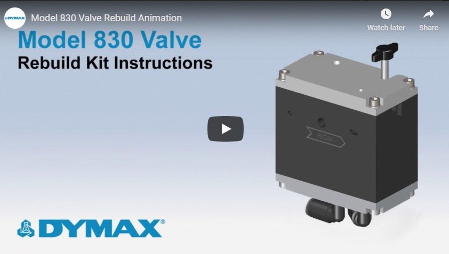 Model 830 Valve Rebuild Animation