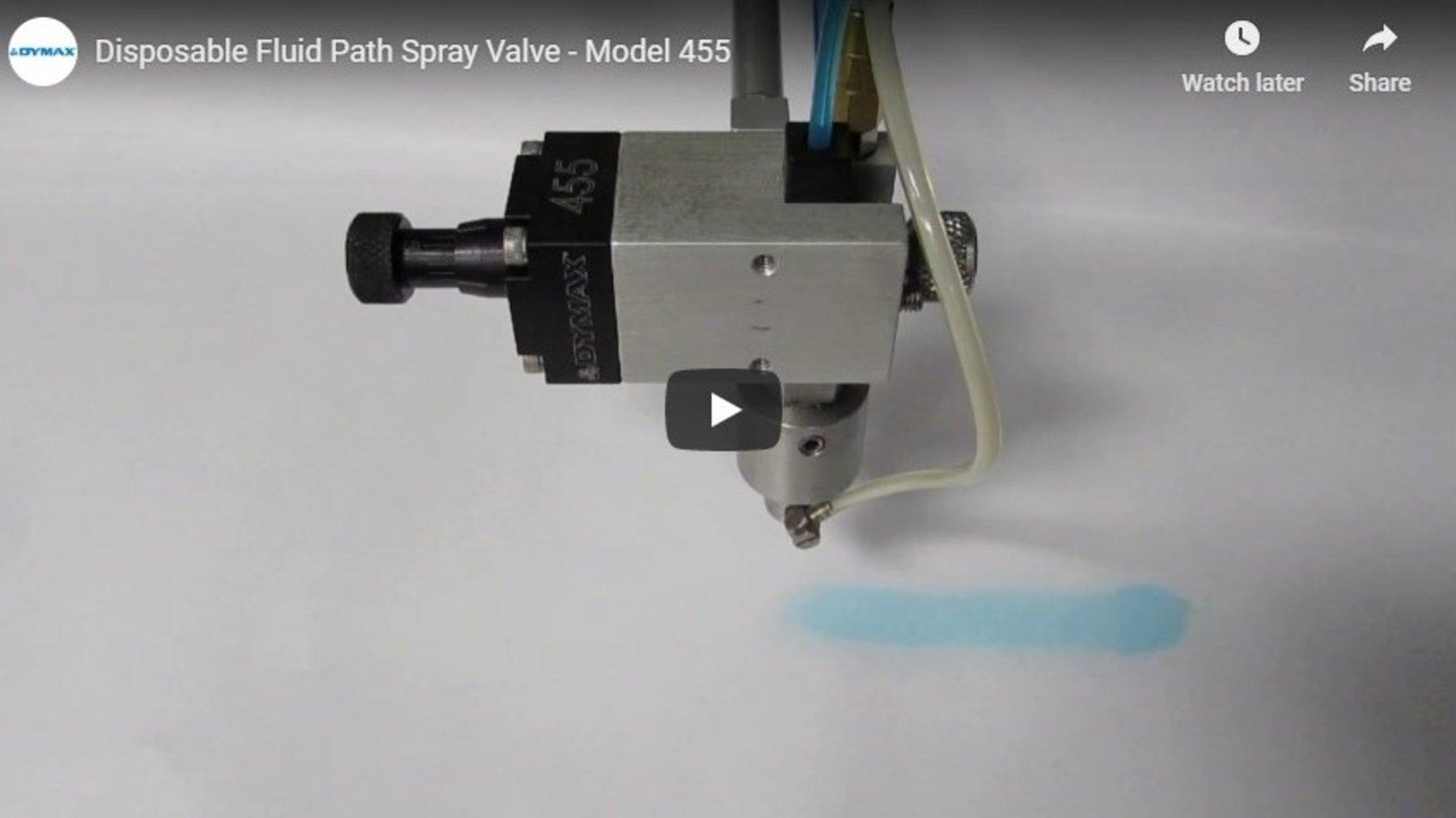 Model 455 Disposable Fluid Path Spray Valve