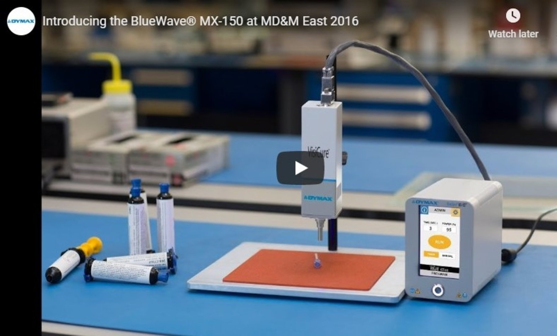 Introducing the BlueWave® MX-150 LED Spot-Curing System at MD&M East 2016