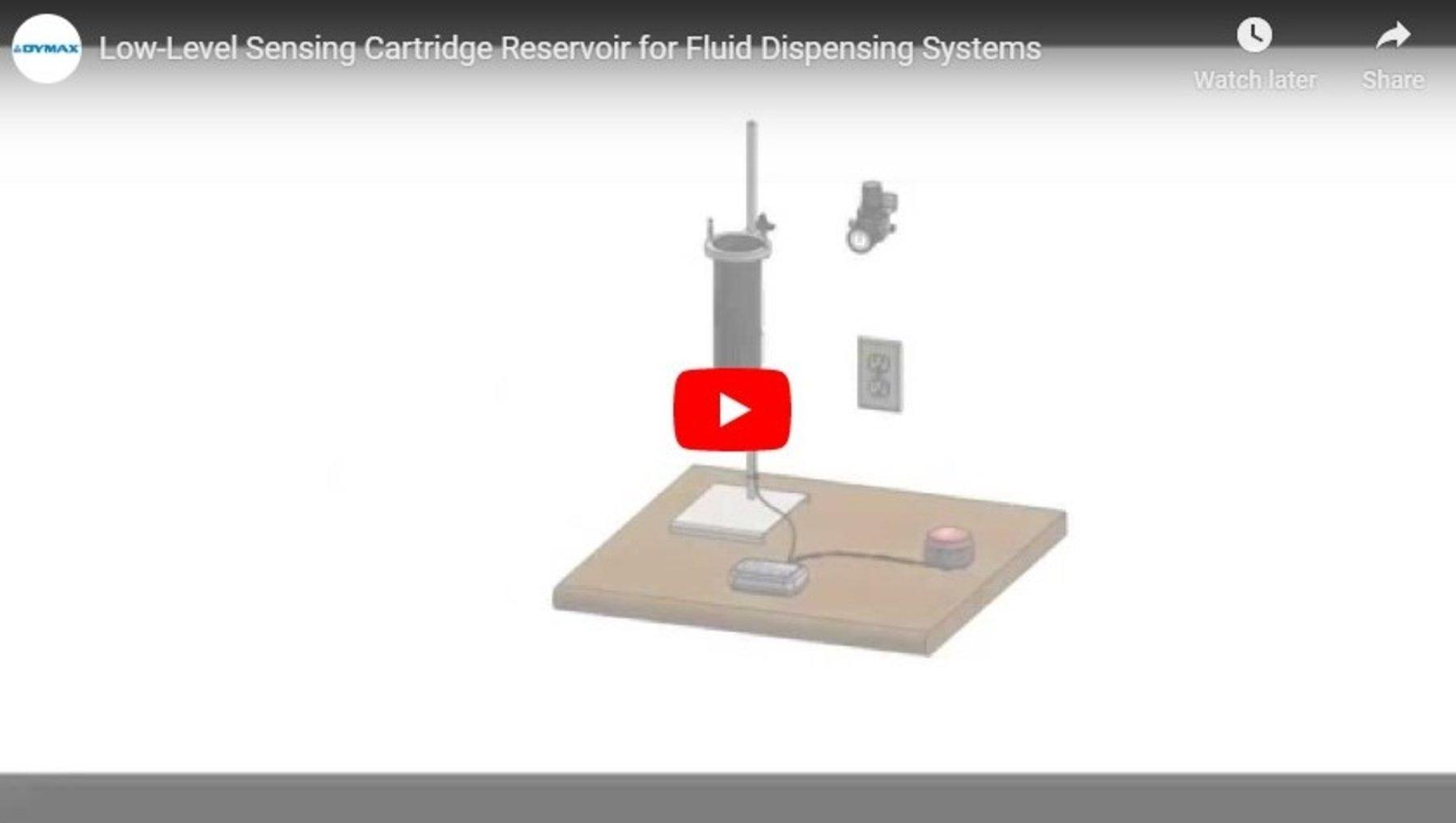 Low-Level Sensing Cartridge Reservoir for Fluid Dispensing Systems