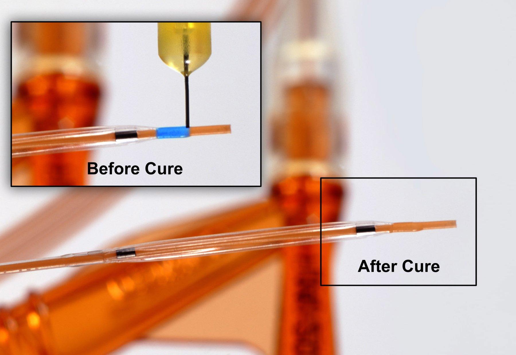 광경화 접착제를 위한 다이맥스의 See-Cure 기술