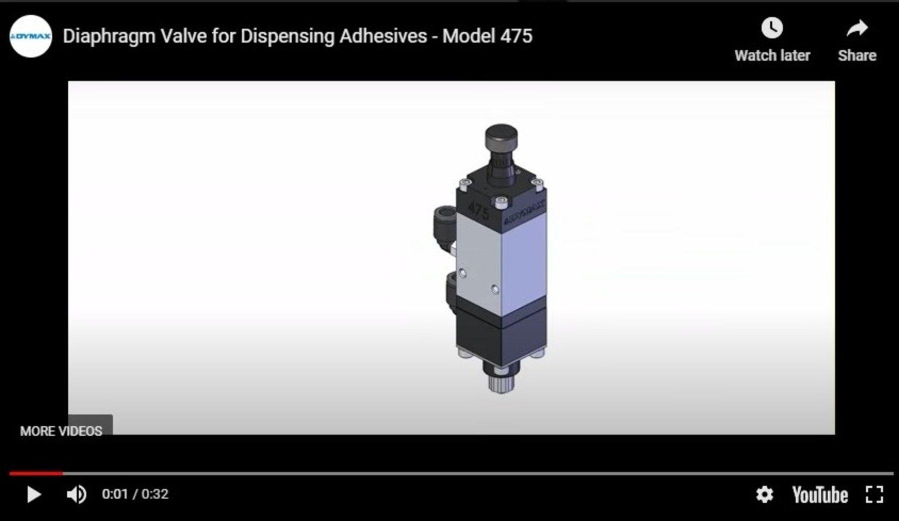 MembranventilModell 475 für die Ausgabe von Klebstoffen