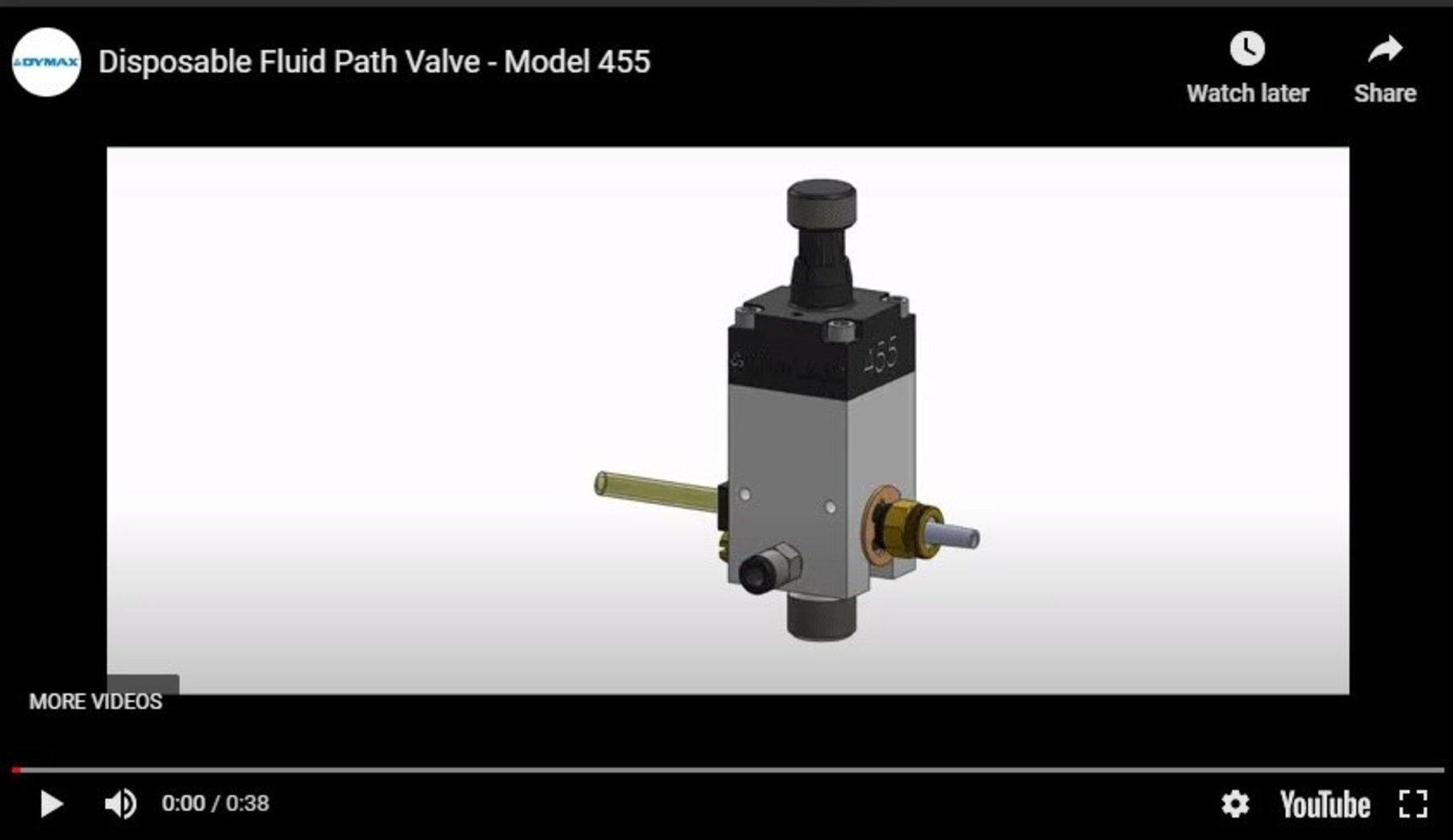 Model 455 Disposable Fluid Path Dispense Valve