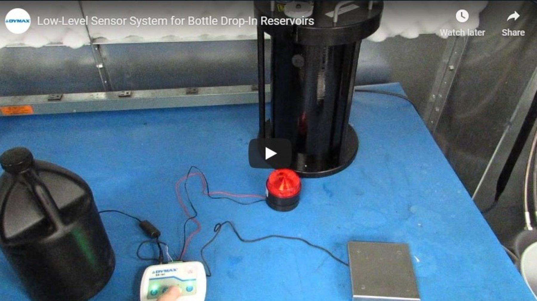 Low-Level Sensor System for Bottle Drop-In Reservoirs